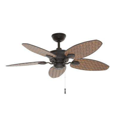 Largo 48 in. Indoor/Outdoor Gilded Iron Ceiling Fan