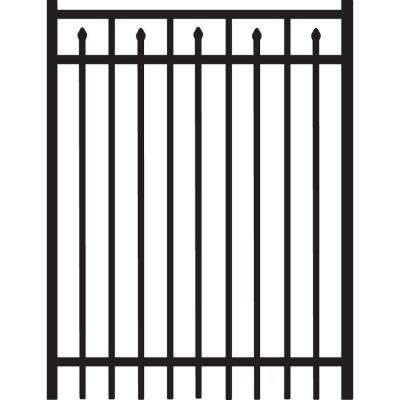 Brilliance 4 ft. W x 5 ft. H Black Heavy-Duty Aluminum Straight Pre-Assembled Fence Gate
