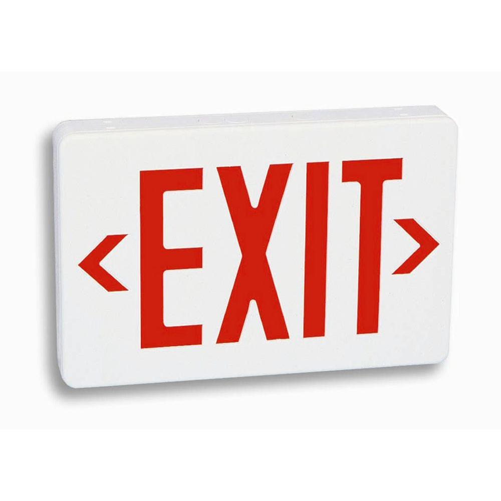 Filament Design Nexis 1 Light Thermoplastic LED Universal Mount Red Exit Sign