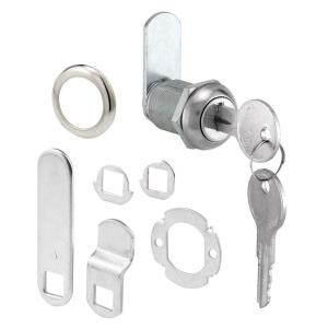 Prime-Line 7/8 inch Chrome Drawer and Cabinet Keyed Cam Lock by Prime-Line