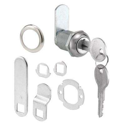 7/8 in. Chrome Drawer and Cabinet Keyed Cam Lock