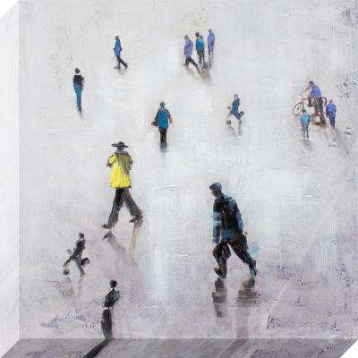 24 in. x 24 in. Figures in Action Oil Painted Canvas Wall Art