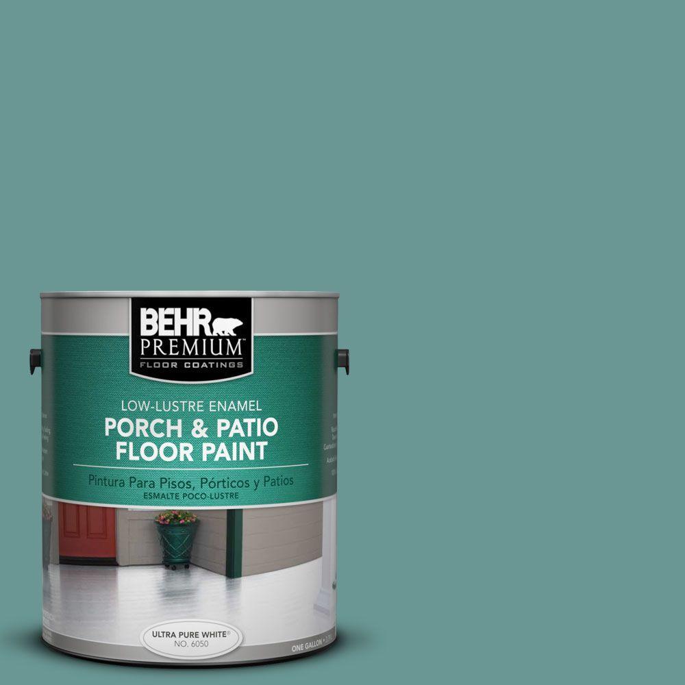 1 gal. #PFC-48 Aqua Marble Low-Lustre Interior/Exterior Porch and Patio Floor Paint