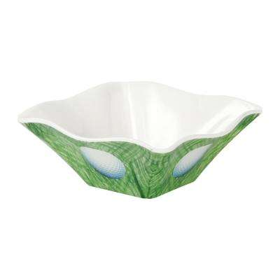 Golf 4 in. 4-Piece Green/White Dip Bowl Set
