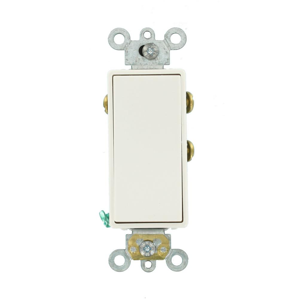 Leviton 3 Amp Decora Plus Commercial Grade Single Pole Double Throw Center  Off Rocker Switch,