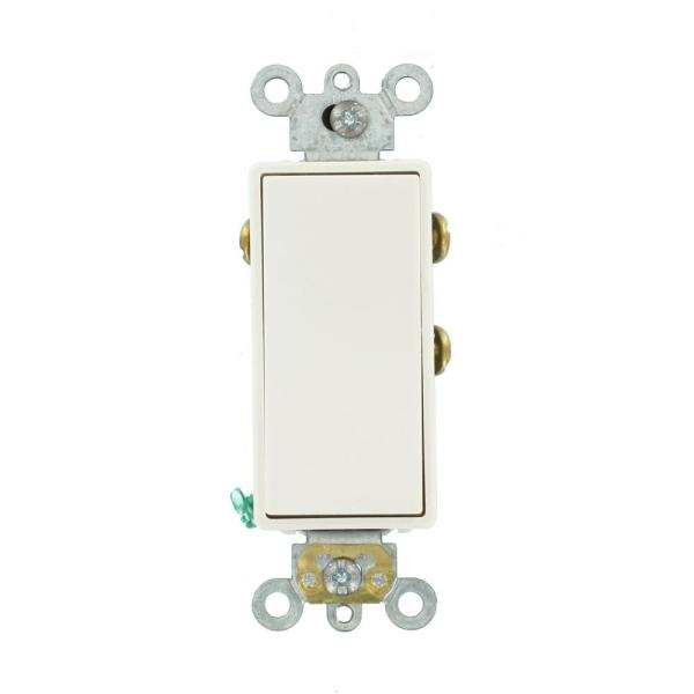 3 Amp Decora Plus Commercial Grade Single Pole Double Throw Center Off Rocker Switch, White