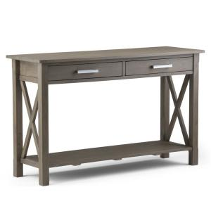 Kitchener Solid Wood 47 in. Wide Contemporary Console Sofa Table in Farmhouse Grey