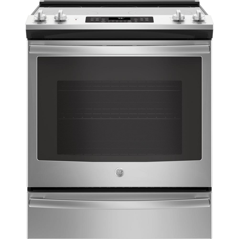 Slide In Electric Range With Self Cleaning Convection Oven Stainless Steel