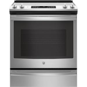 Click here to buy GE 5.3 cu. ft. Slide-In Electric Range with Self-Cleaning Convection Oven in Stainless Steel by GE.