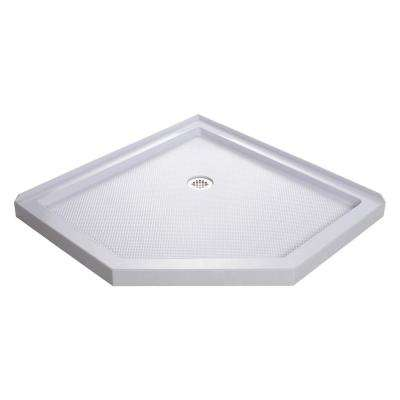 SlimLine 42 in. W x 42 in. D Neo-Angle Shower Base in White