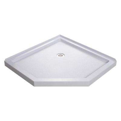 SlimLine 38 in. x 38 in. Neo-Angle Shower Tray in White