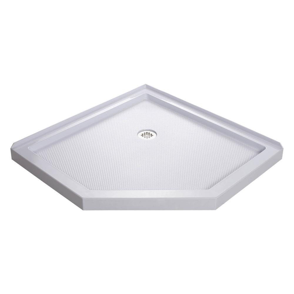 SlimLine 42 in. W x 42 in. D Neo-Angle Shower Base in White