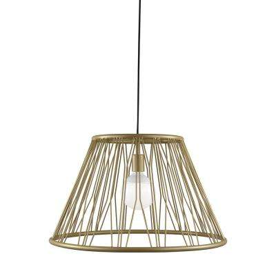 Diamant Grande 1-Light Satin Gold Pendant