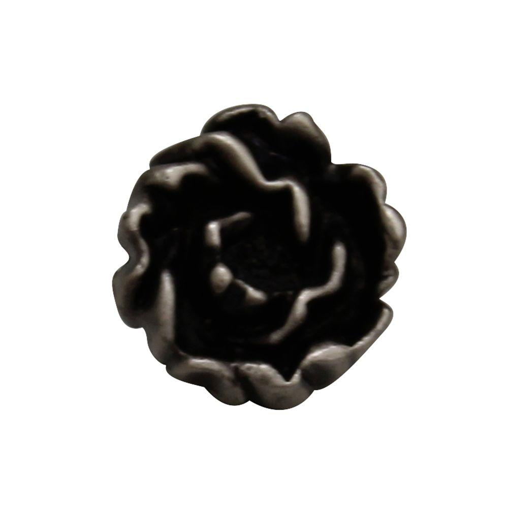 1-1/4 in. Pewter Rosette Shaped Cabinet Hardware Knob