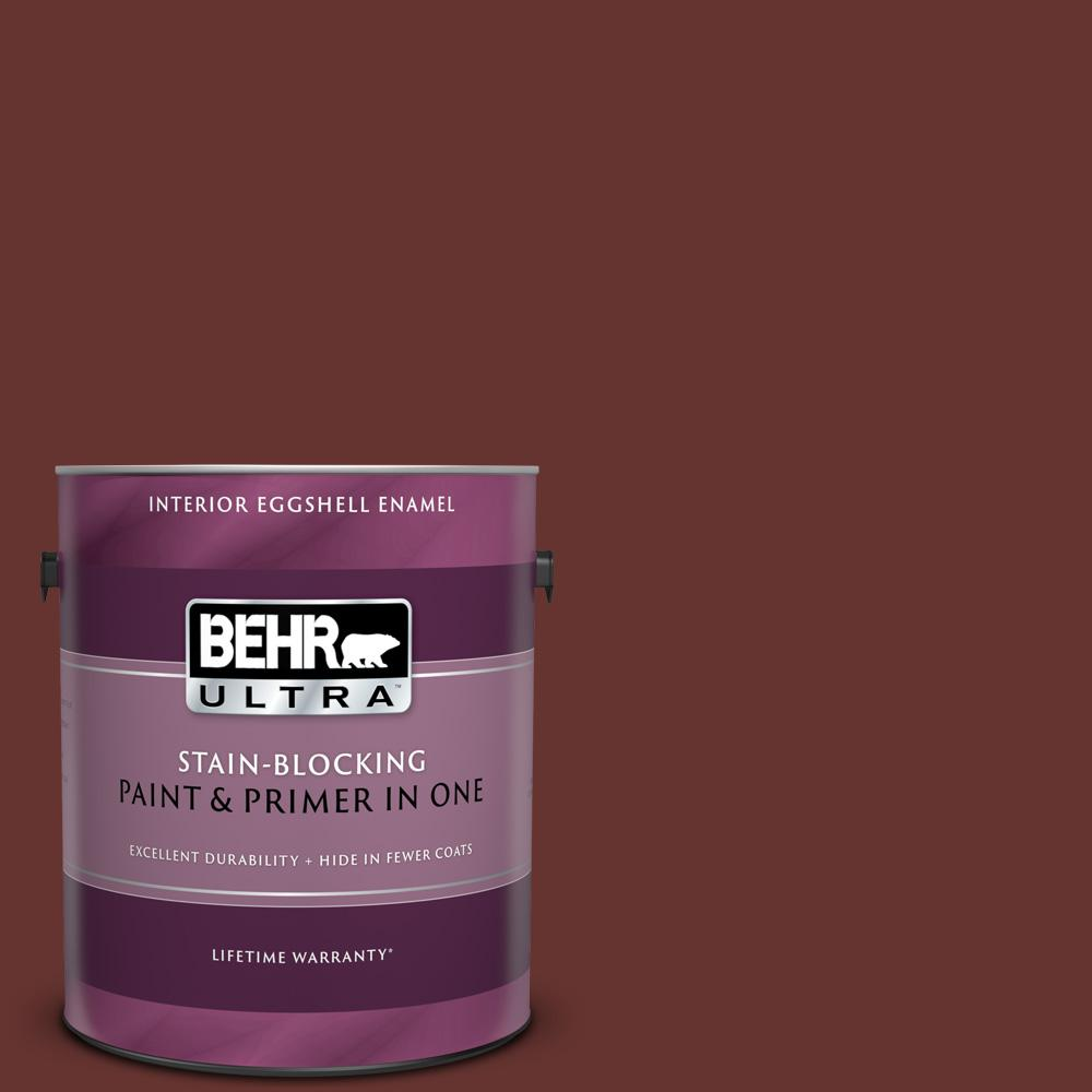 Behr Ultra 1 Gal Ppu2 01 Chipotle Paste Eggshell Enamel Interior Paint And Primer In One 275301 The Home Depot