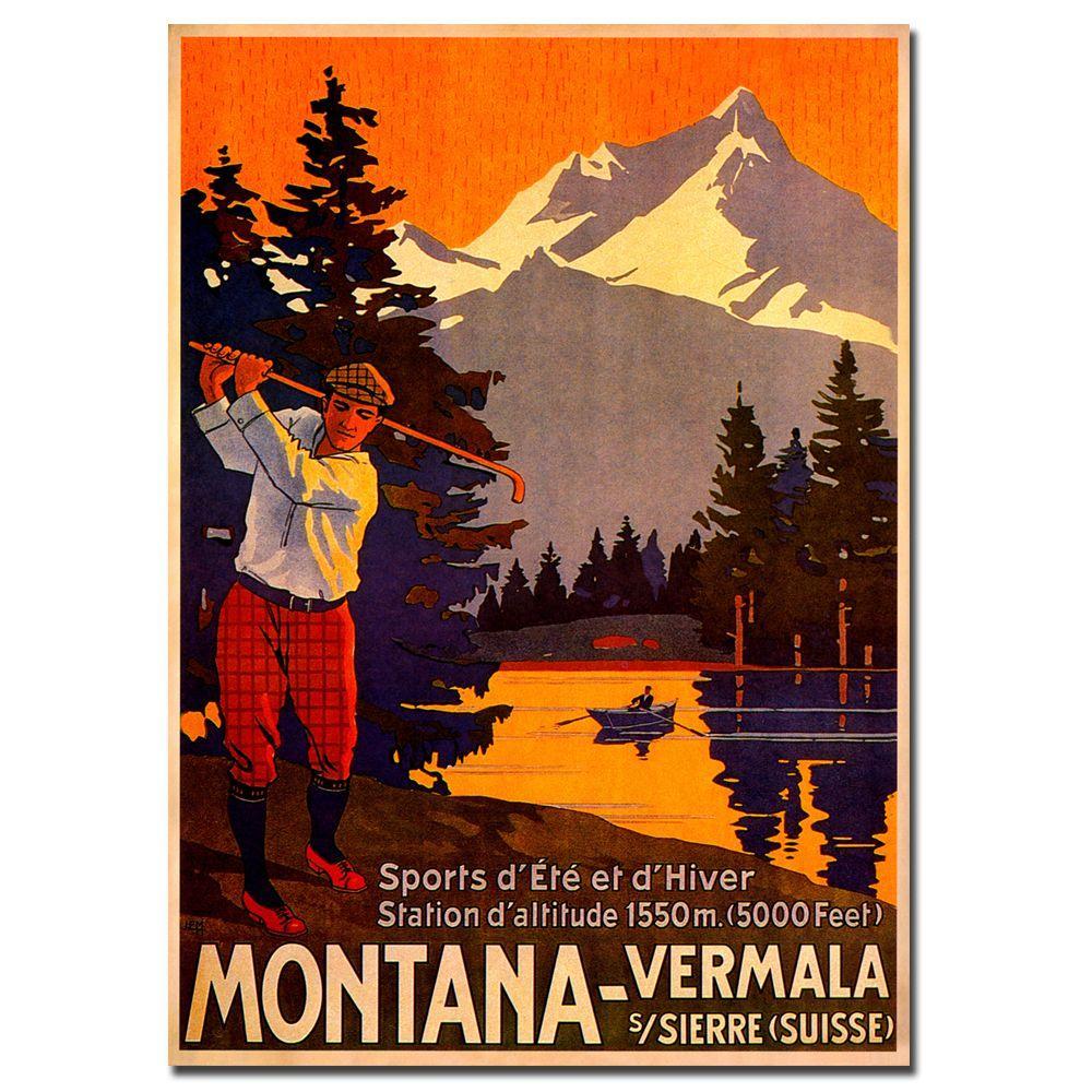Trademark Fine Art 16 in. x 24 in. Montana Vintage Canvas Art
