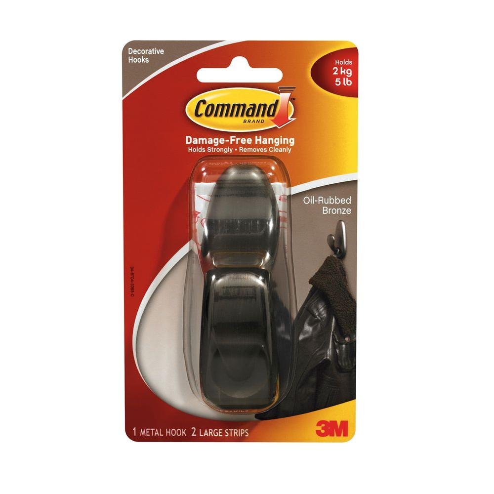 Command Forever Classic 5 lb. Large Oil-Rubbed Bronze Metal Hook