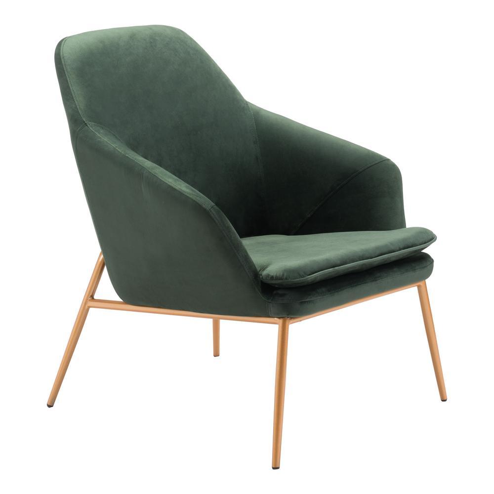 Debonair Green Velvet Arm Chair