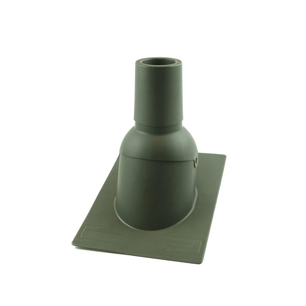 Perma-Boot Pipe Boot for 3 in. I.D. Vent Pipe Weatherwood Color New Construction/Reroof