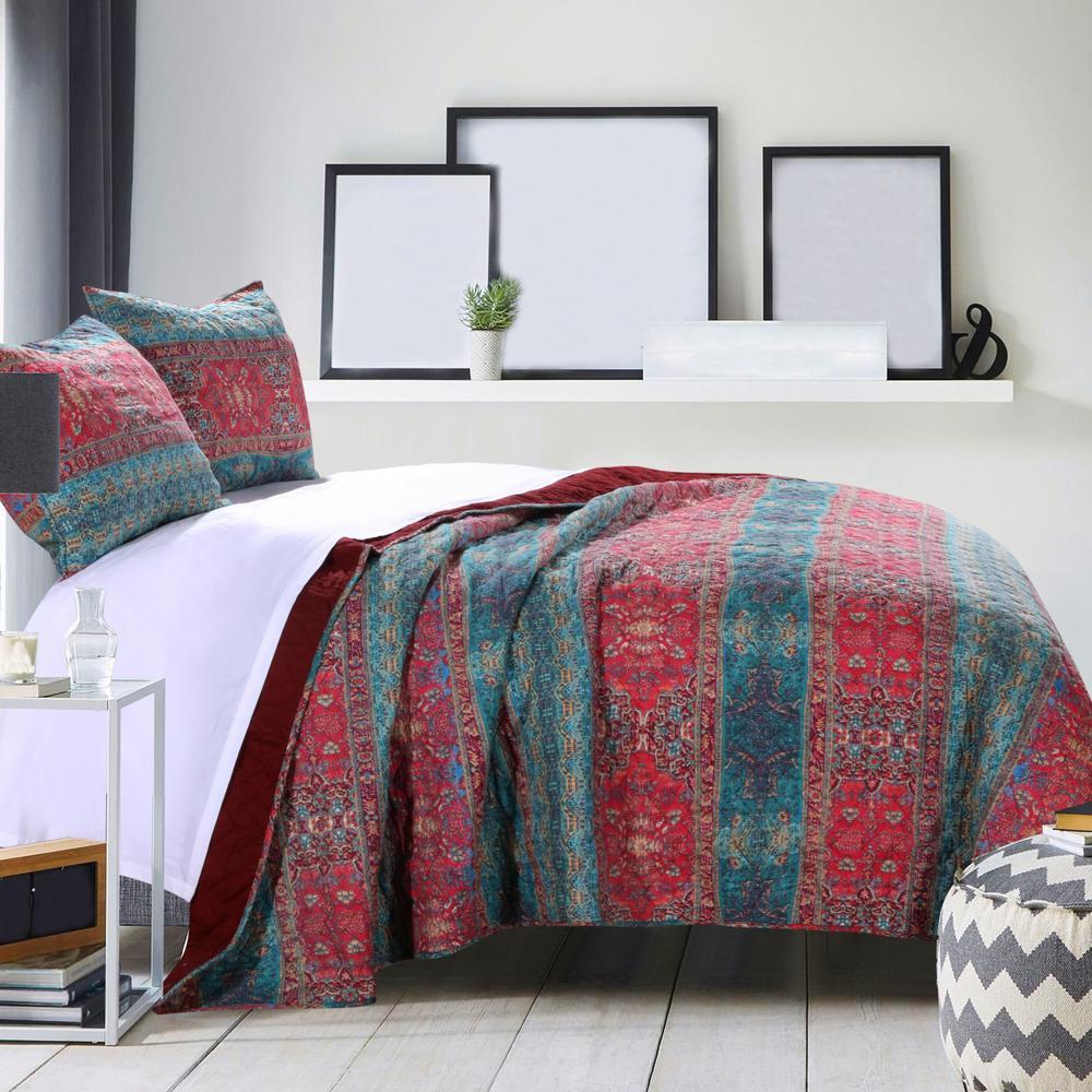 Barefoot Bungalow Dakota Sunset Quilt Set, 3-Piece Full/Queen GL-1707DMSQ