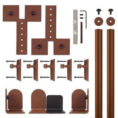 Dually New Age Rust Rolling Door Hardware Kit for 3/4 in. to 1-1/2 in. Door