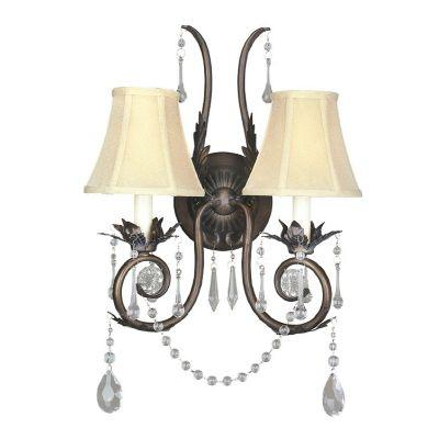 null 2-Light Weathered Bronze Sconce
