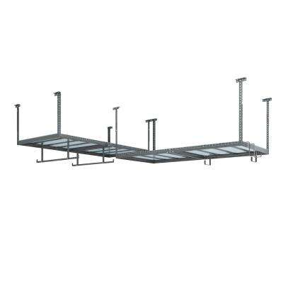 VersaRac Set with 2-Overhead Rack and 6-Piece Accessory Kit (2xVersaRac, Hanging Bars, S-Hooks)