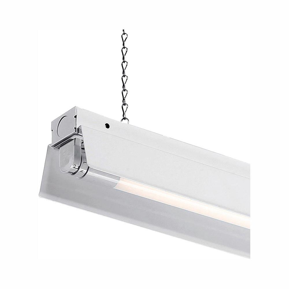 Led Shop Lights >> Envirolite 4 Ft 1 Light White Led Shop Light With T8 Led 4000k Tubes