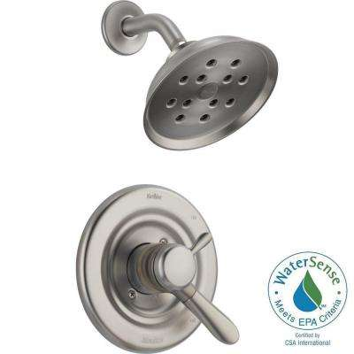 Lahara 1-Handle H2Okinetic Shower Only Faucet Trim Kit in Stainless (Valve Not Included)