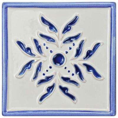 Novecento Taco Evoli Cobalto 5-1/4 in. x 5-1/4 in. Ceramic Wall Tile
