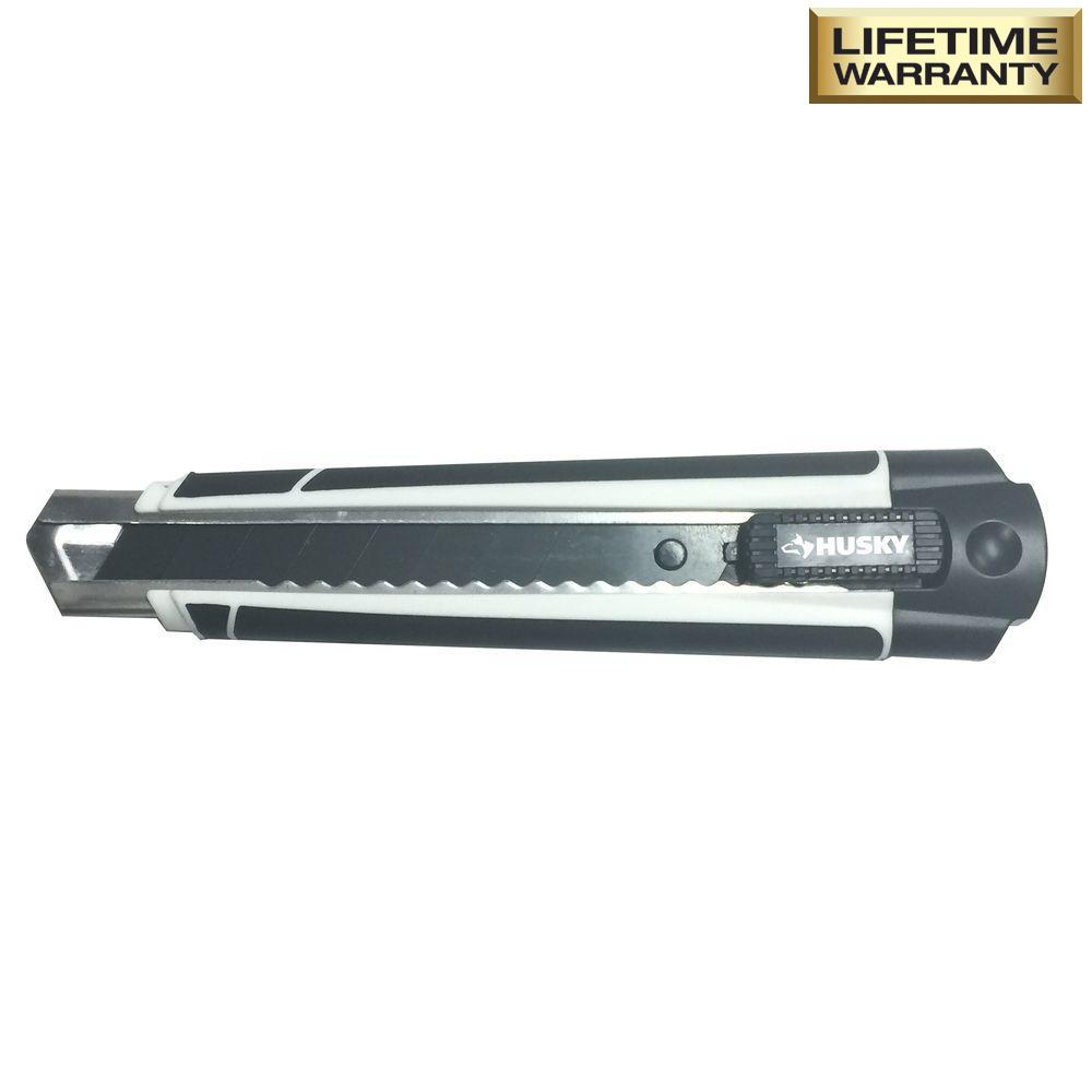 18 mm Pro Snap Knife with 3 Black Blades