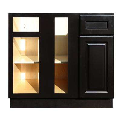 La. Newport Ready to Assemble 36x34.5x24 in. Base Blind Corner Cabinet in Dark Espresso