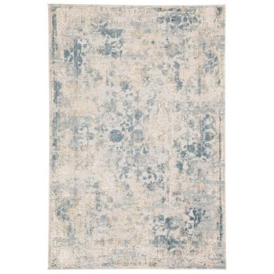 JAIPUR LIVING Cirque Light Gray 7 ft. 6 in. x 9 ft. 6 in. Floral Rectangle Area Rug, Light Gray/Blue