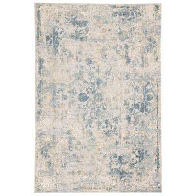 Cirque Light Gray 2 ft. x 3 ft. Floral Rectangle Area Rug
