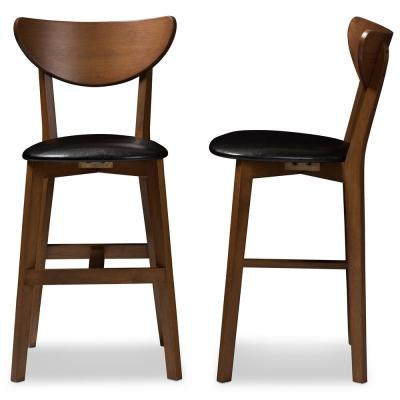Eline 24 in. Black Counter Stool (Set of 2)