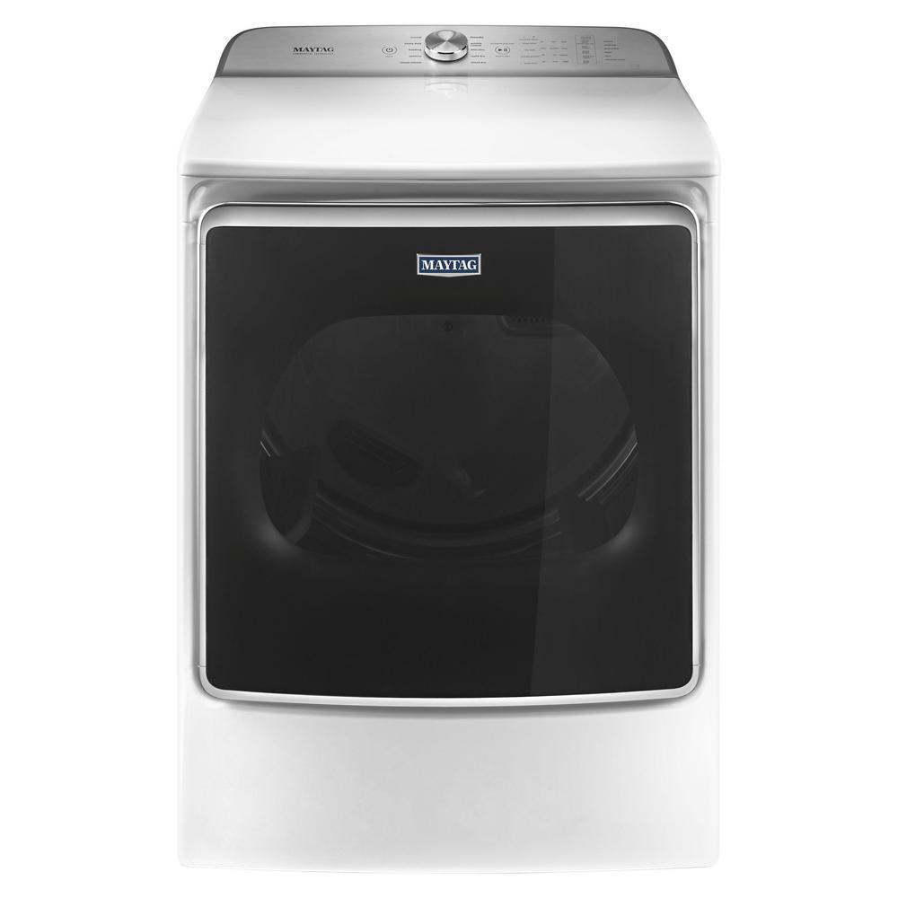Maytag 9 2 Cu Ft 120 Volt White Gas Vented Dryer With Extra Moisture Sensor Energy Star Mgdb955fw The Home Depot