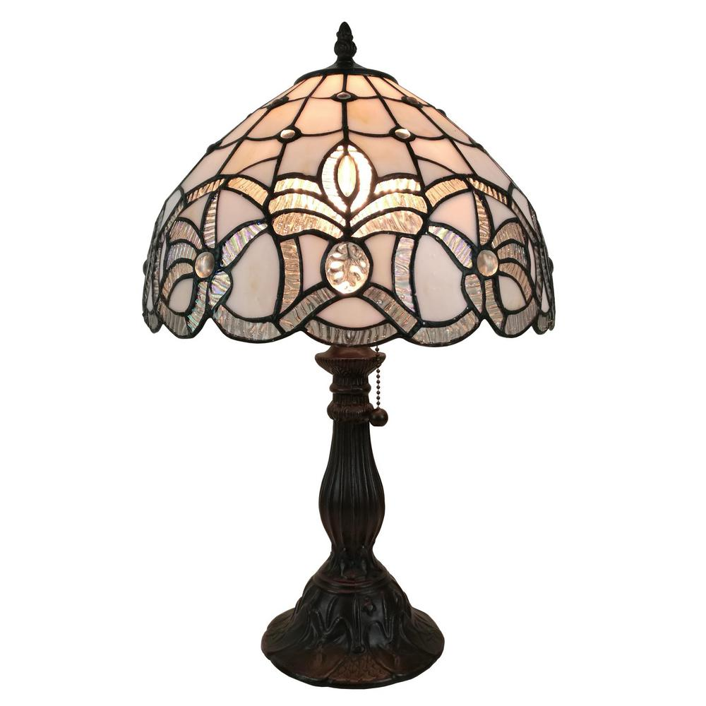 Amora Lighting 19 In Multicolored Tiffany Style Floral Design Table