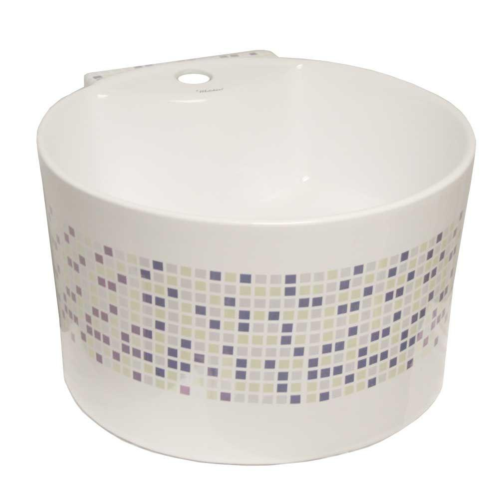 Whitehaus Collection Isabella Round Wall-Mounted Bathroom Sink in White