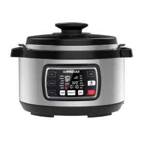 Ovate 8.5 Qt. Stainless Steel Electric Pressure Cooker Oval with Accessories and 50-Recipes