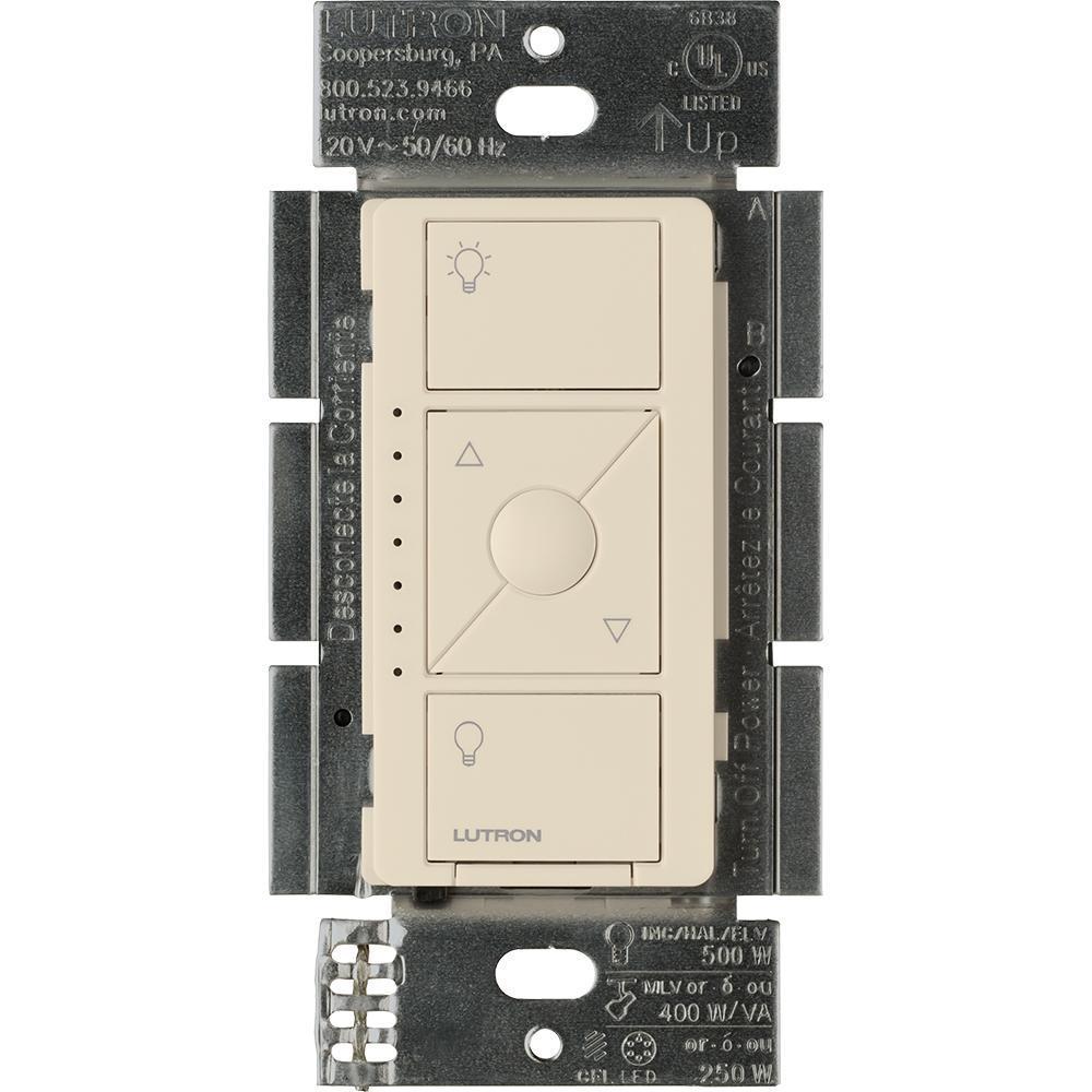 Caseta Wireless Smart Lighting Dimmer Switch for ELV+ Bulbs, Light Almond