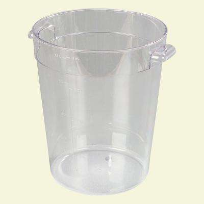 8 qt. Polycarbonate Round Storage Container in Clear (Case of 12)