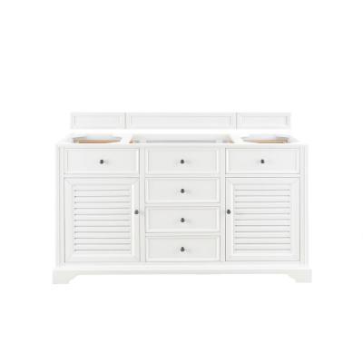 Savannah 60 in. W. Bath Vanity Cabinet Only in Bright White