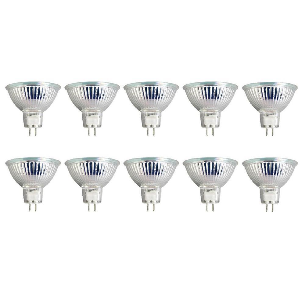 50-Watt MR16 G5.3 Base Halogen Light Bulbs (10-Pack)