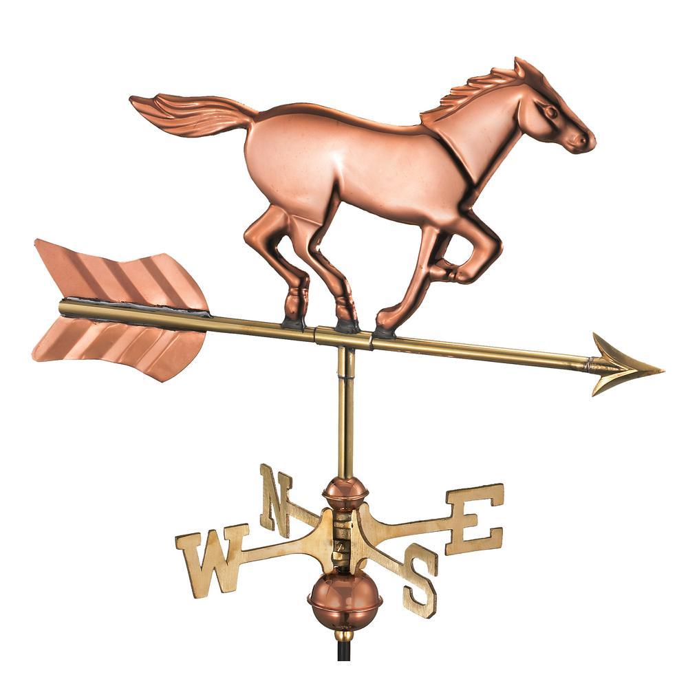 Horse Garden Weathervane - Pure Copper with Garden Pole