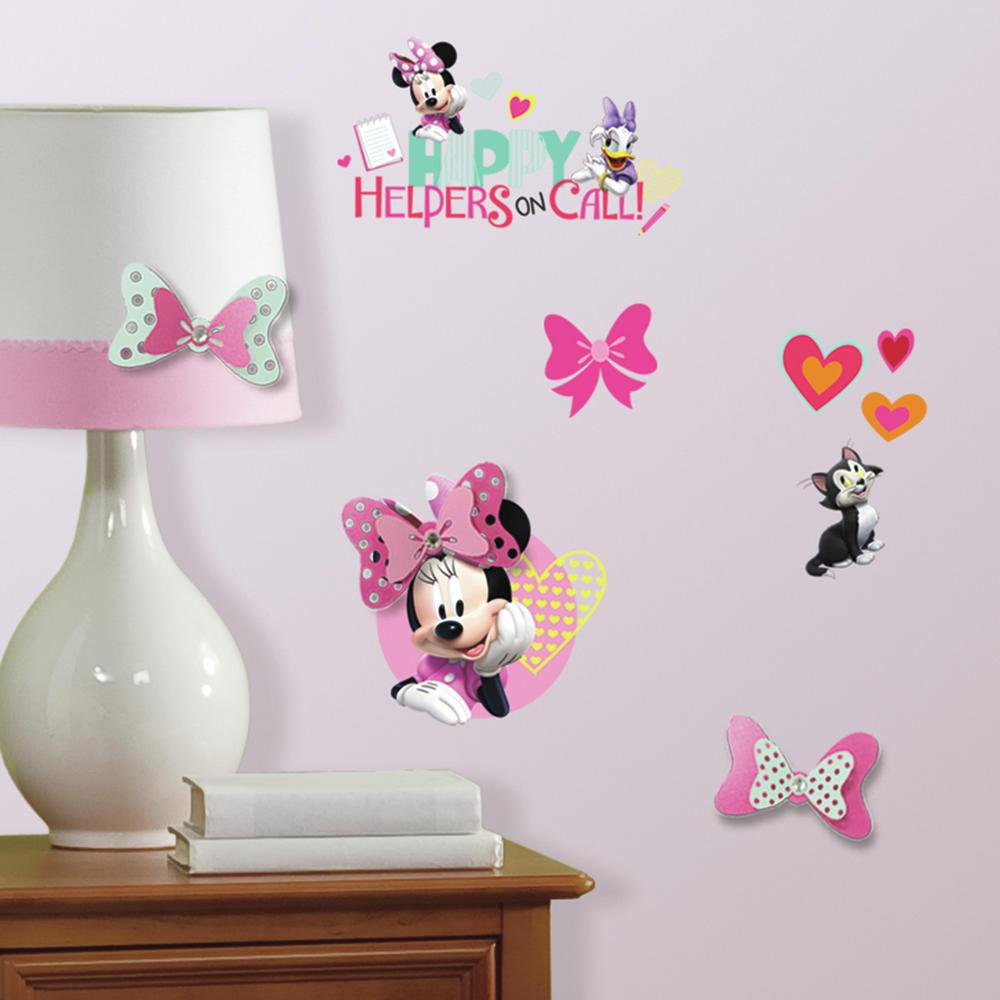 Roommates 5 in x 11 5 in minnie mouse happy helpers 9 for Room decor embellishment art 3d
