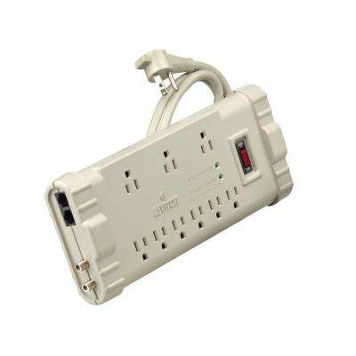 15 Amp Office Grade Surge Protected 9-Outlet Power Strip, 2020 Joules, On/Off Switch, 15 Foot Cord, Beige