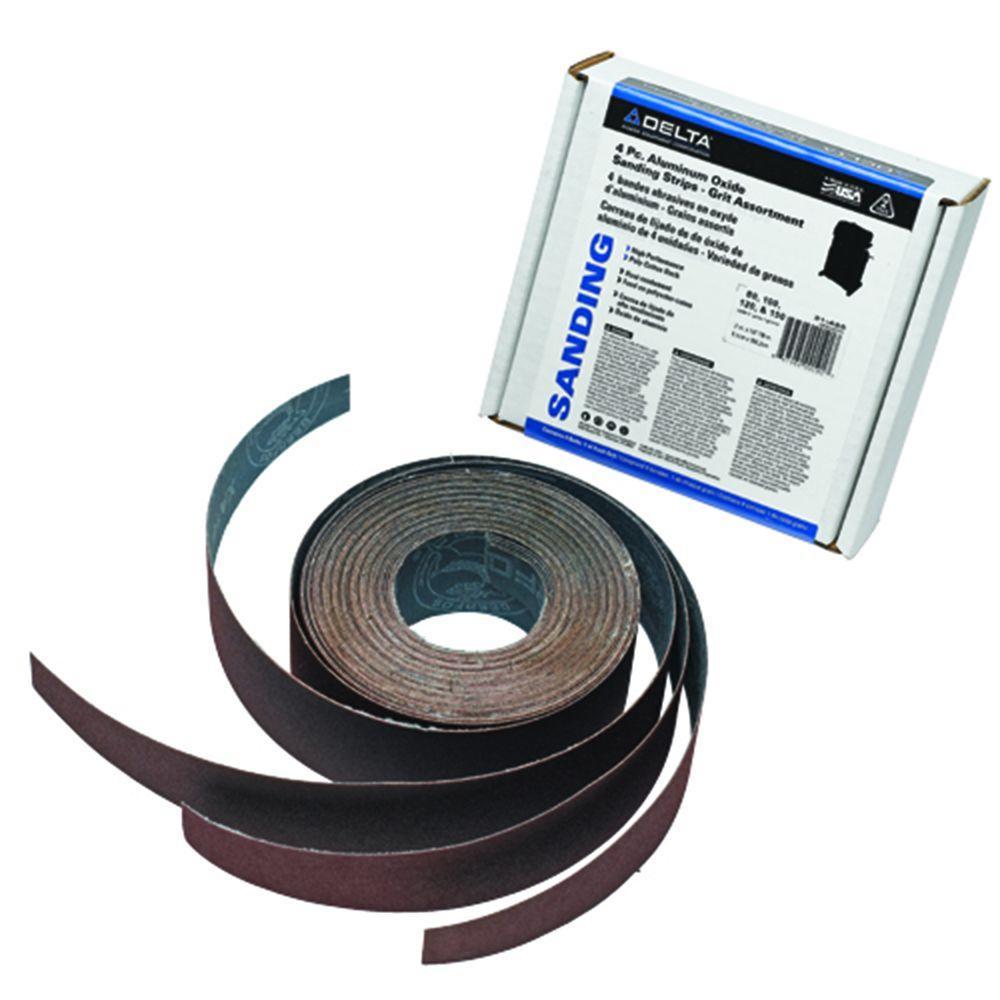 Aluminum Oxide Grit Assortment Sanding Strips (4-Piece)