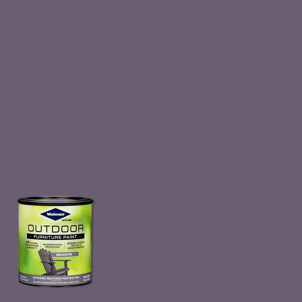 1 qt. Granite Outdoor Furniture Exterior Paint (2 Pack)