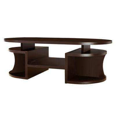 Alfred Walnut Oval Coffee Table