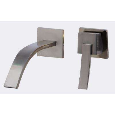 Single-Handle Wall Mount Bathroom Faucet in Brushed Nickel
